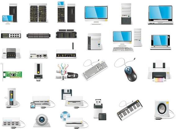 computer equipment icon vector