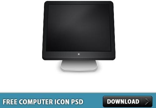 Computer Icon Free PSD