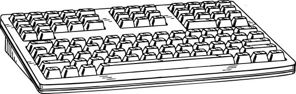 Computer Keyboard clip art Free vector in Open office