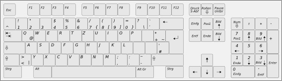 Computer Keyboard Layout De Clip Art Free Vector In Open Office Drawing Svg Svg Vector Illustration Graphic Art Design Format Format For Free Download 77 94kb