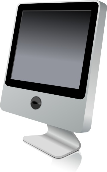 Computer Monitor clip art Free vector in Open office ...