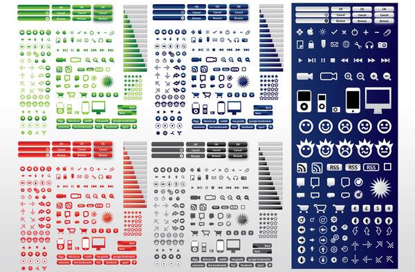 Computer Symbols Free Vector In Adobe Illustrator Ai Vector