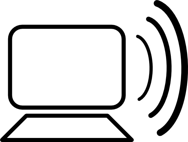 computer wireless signal clip art free vector in open office drawing
