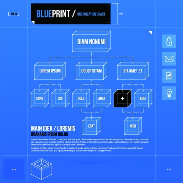 Concept business blueprint vector free vector in encapsulated concept business blueprint vector malvernweather Choice Image