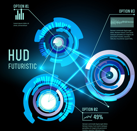 concept futuristic interfaces template background vector free vector