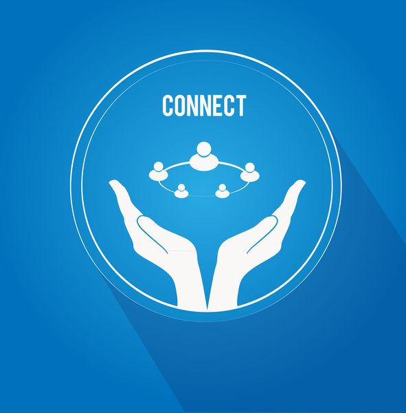 connecting people hands free vector in adobe illustrator