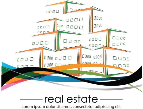 construction and real estate simple pen drawing 03 vector