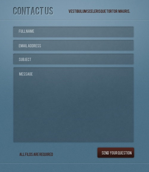 Contact Form – Free PSD Web Element
