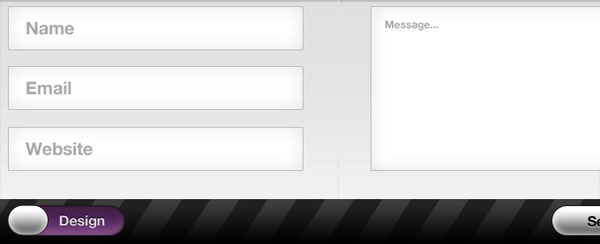 Contact Form Interface