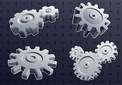 cool 3d gear element vector background