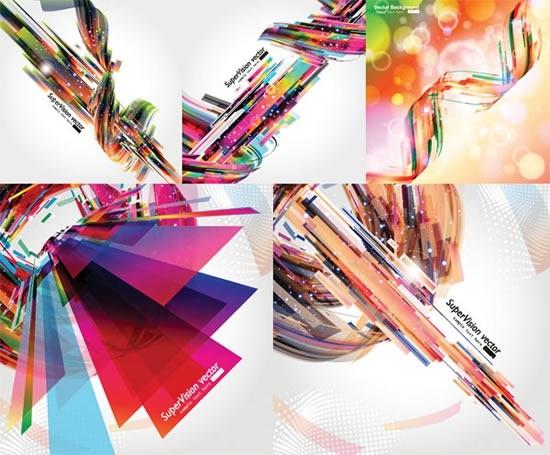 dynamic background templates modern colorful 3d bokeh decor