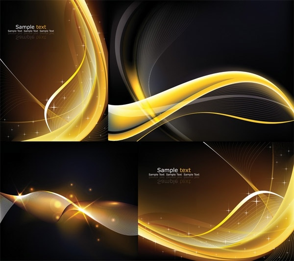 cool dynamic light vector background