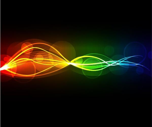 decorative background template sparkling colorful dynamic lights decor