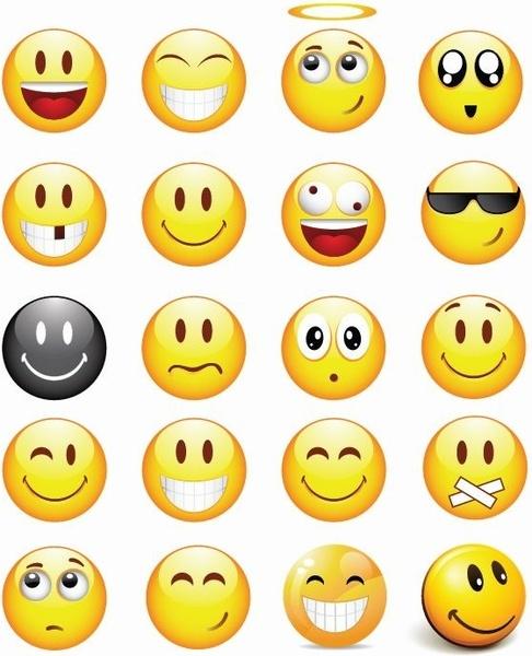 Cool Smilies Vector Icon Set