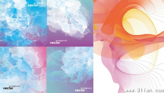 abstract background templates colored dynamic smoke decor