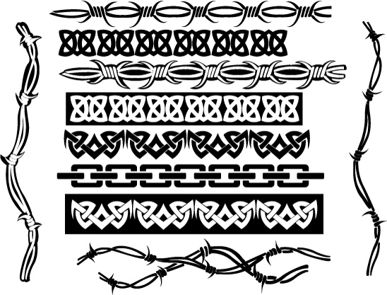 cool tribal borders free vector in adobe illustrator ai ai