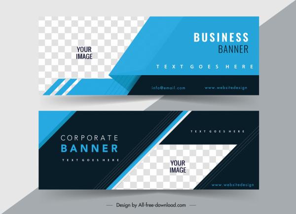 corporate banner templates elegant checkered dark bright design