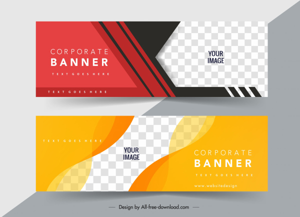 corporate banner templates modern colorful abstract checkered decor