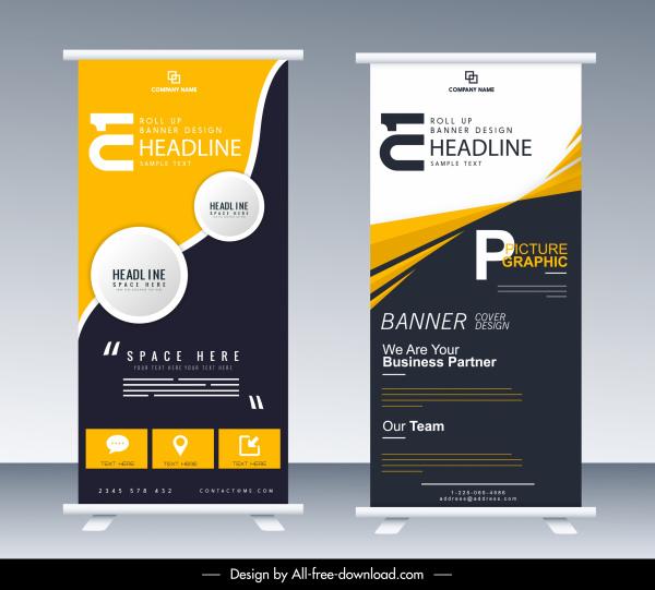 corporate banner templates modern roll up design