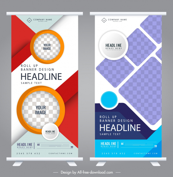 corporate banners templates colorful modern vertical design