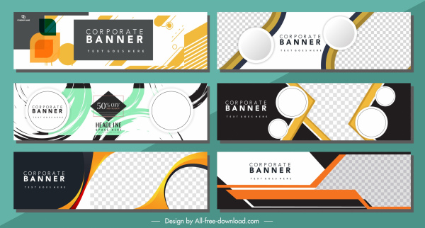 corporate banners templates modern abstract geometric decor