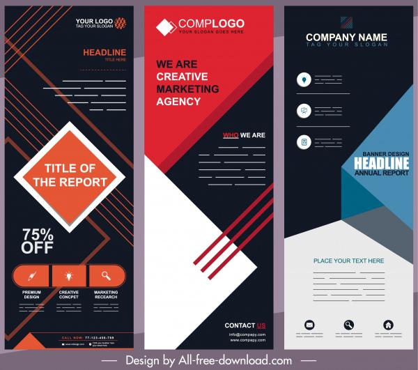 corporate banners templates modern technology decor