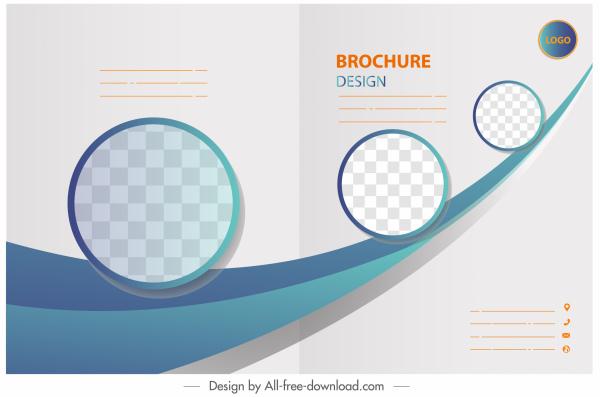 corporate brochure template checkered circles dynamic decor
