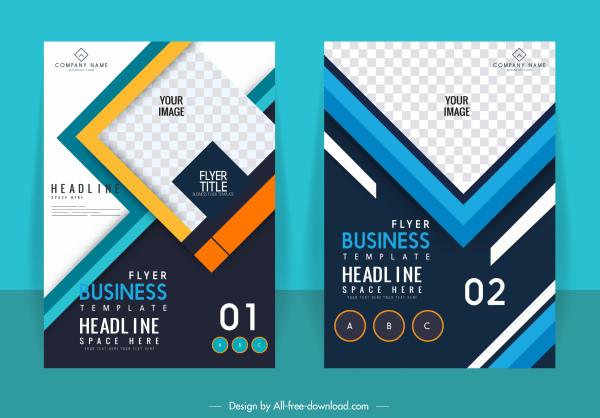 corporate brochure templates colorful modern checkered decor