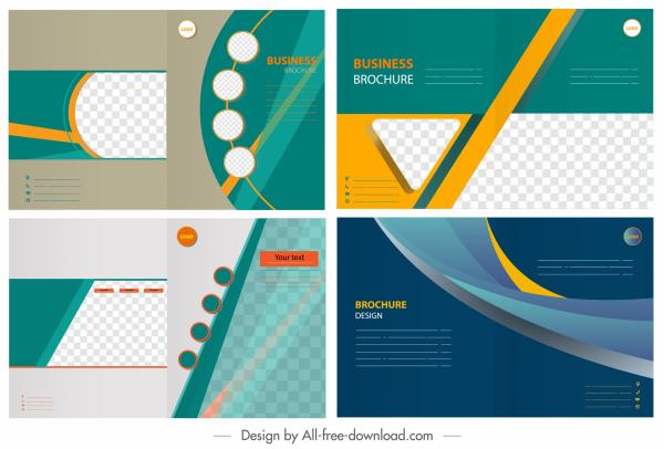 corporate brochure templates colorful modern dynamic geometric decor