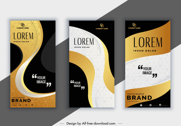 corporate brochure templates elegant curves decor modern design