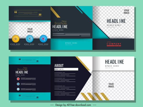 corporate brochure templates elegant modern colorful flat checkered