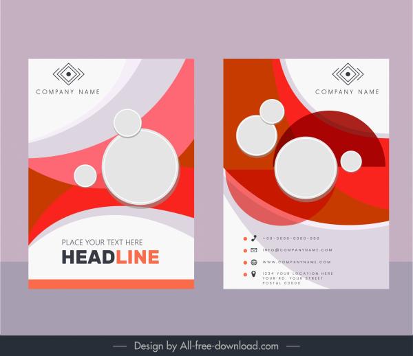 corporate brochure templates modern bright colored circles decor