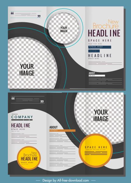 corporate brochure templates modern checkered circles decor