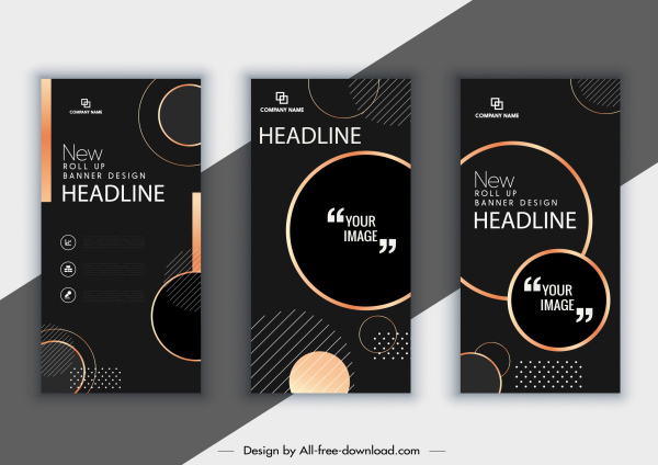 corporate brochure templates modern elegant dark black decor