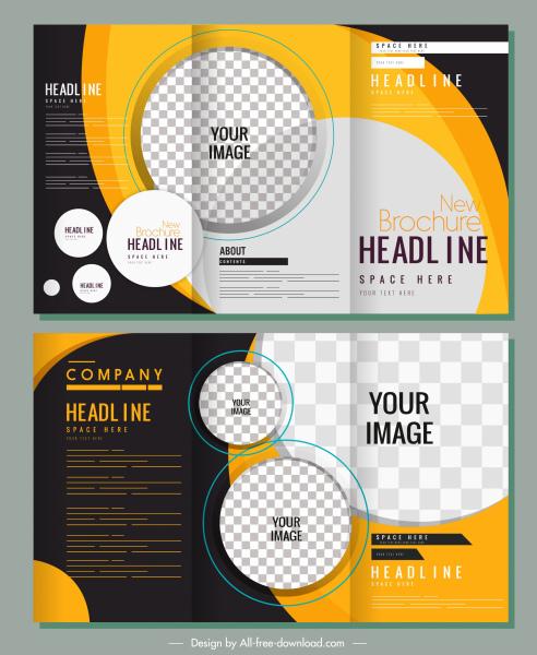 corporate brochures vertical trifold design modern checkered decor