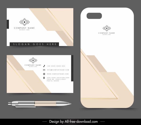 corporate card tag template flat bright modern decor
