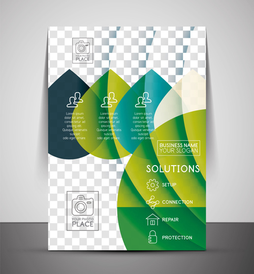 Book Cover Design Template Ai : Annual report cover page design adobe illustrator free