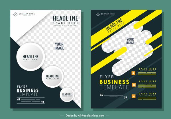 corporate flyer template modern dynamic contrast decor