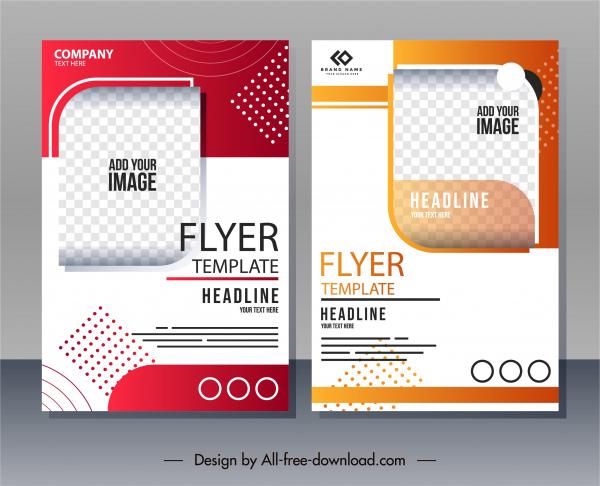 corporate flyer templates colorful bright decor modern design