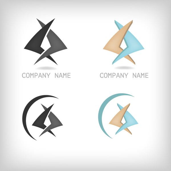 corporate modern logo vector design
