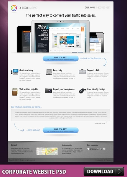 Corporate Website PSD