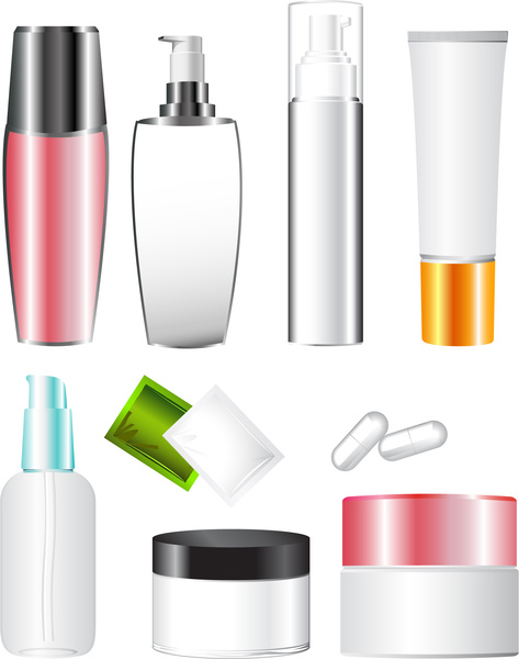 cosmetic blank container plastic templates