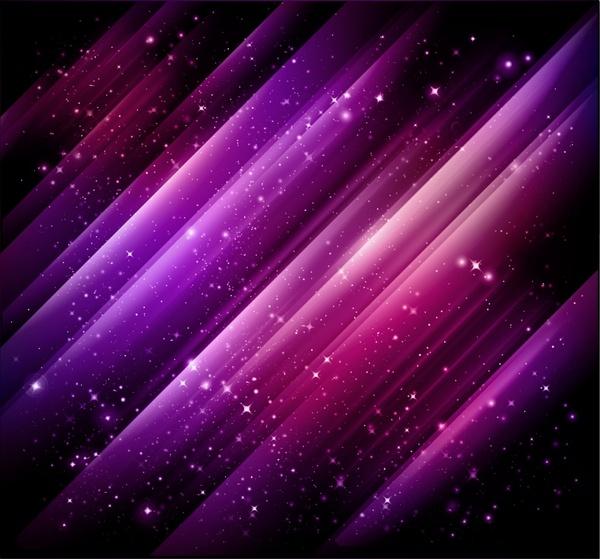 space background dark twinkling violet stars decor