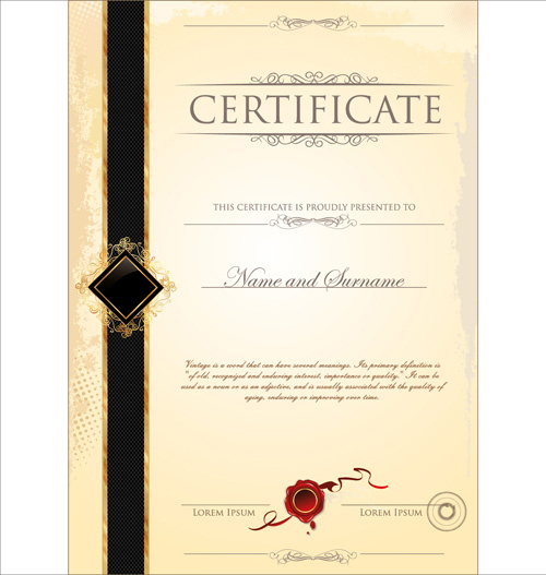 illustrator certificate template - certificate border template free vector download 19 266