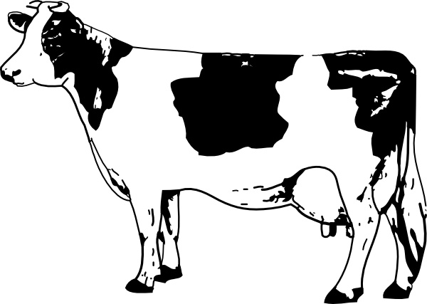 Cow Clip Art Free Vector In Open Office Drawing Svg Svg Vector