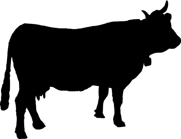 cow silhouette free vector in open office drawing svg svg rh all free download com  cow silhouette vector free download