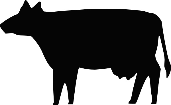 Cow Silhouette Clip Art Free Vector In Open Office Drawing