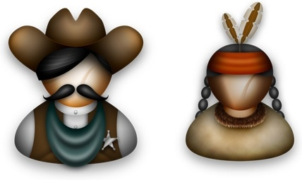 Cowboys and Indians icons pack