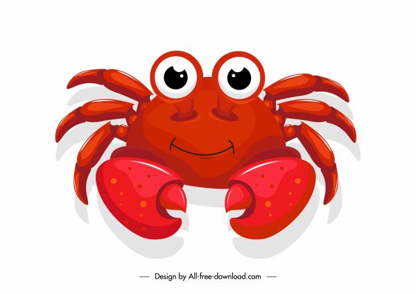 crab icon cute cartoon sketch shiny design