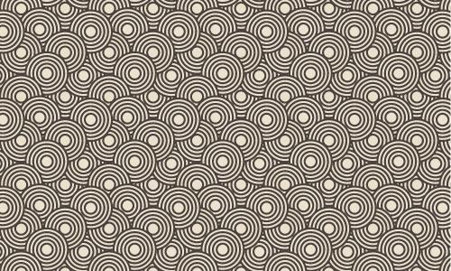 Crazy Circles Free Seamless Pattern Free vector in Adobe Illustrator